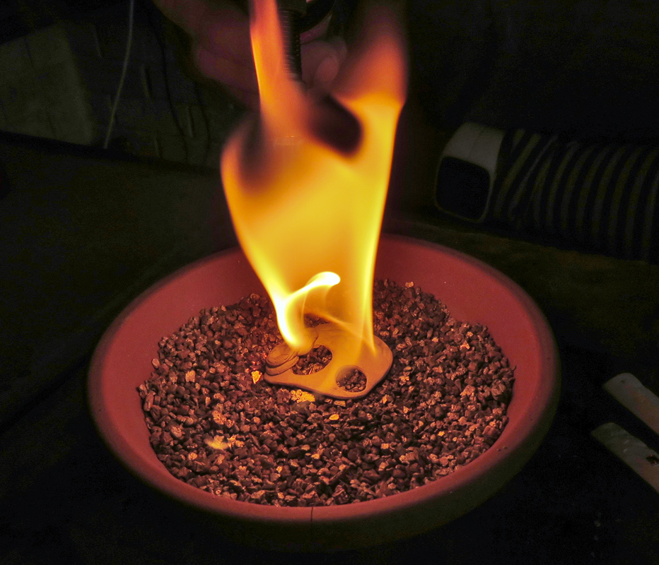 Fire Clay Rock : Metal clay firing art studio